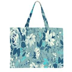 Floral Pattern Wallpaper Large Tote Bag