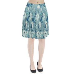 Floral Pattern Wallpaper Pleated Skirt
