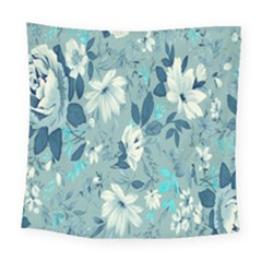 Floral Pattern Wallpaper Square Tapestry (large)