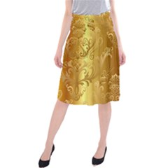 Golden Flower Vintage Gradient Resolution Midi Beach Skirt