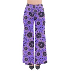 Flower Floral Purple Leaf Background Pants
