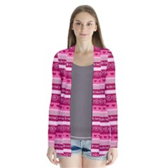 Happy Valentine Day Love Heart Pink Red Chevron Wave Cardigans
