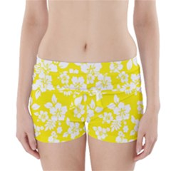 Hawaiian Flowers Boyleg Bikini Wrap Bottoms
