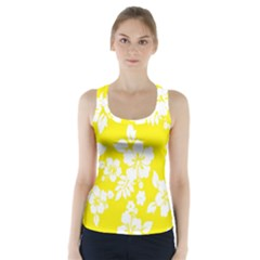 Hawaiian Flowers Racer Back Sports Top