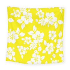 Hawaiian Flowers Square Tapestry (large)