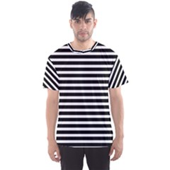Horizontal Stripes Black Men s Sport Mesh Tee