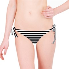 Horizontal Stripes Black Bikini Bottom