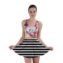 Horizontal Stripes Black Mini Skirt