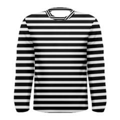 Horizontal Stripes Black Men s Long Sleeve Tee