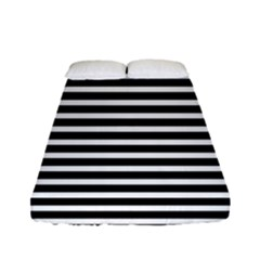 Horizontal Stripes Black Fitted Sheet (full/ Double Size)