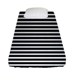 Horizontal Stripes Black Fitted Sheet (single Size)