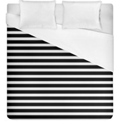Horizontal Stripes Black Duvet Cover (king Size)