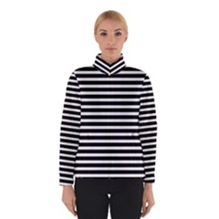 Horizontal Stripes Black Winterwear