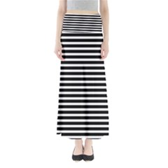 Horizontal Stripes Black Maxi Skirts