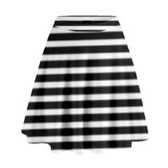 Horizontal Stripes Black High Waist Skirt