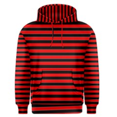 Horizontal Stripes Red Black Men s Pullover Hoodie