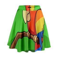 Parrots Pinterest High Waist Skirt