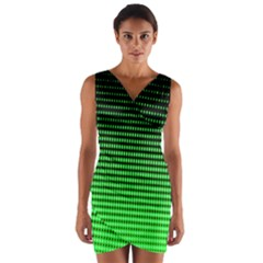Neon Green Wrap Front Bodycon Dress