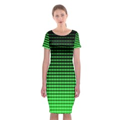 Neon Green Classic Short Sleeve Midi Dress