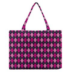 Pink Baby Showers Skull Chevron Wave Pink Purple Black Pink Medium Zipper Tote Bag