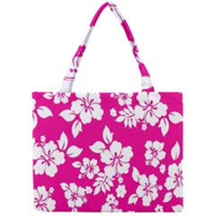 Pink Hawaiian Flower Mini Tote Bag