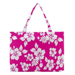 Pink Hawaiian Flower Medium Tote Bag