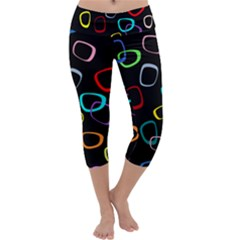 Retro Black Capri Yoga Leggings