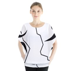 Mountaineering-Climbing Pictogram  Blouse