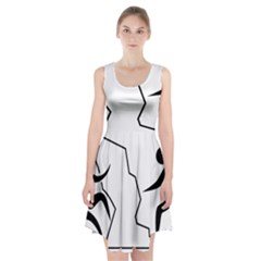 Mountaineering-Climbing Pictogram  Racerback Midi Dress