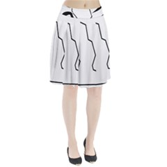 Mountaineering-Climbing Pictogram  Pleated Skirt