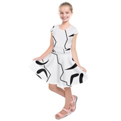 Mountaineering-Climbing Pictogram  Kids  Short Sleeve Dress