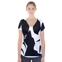 Mountaineering-Climbing Pictogram  Short Sleeve Front Detail Top