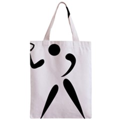 American Football Pictogram  Zipper Classic Tote Bag
