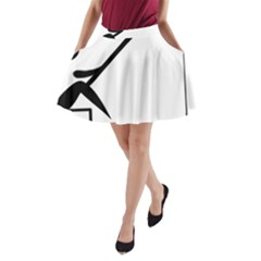 Angling Pictogram A-Line Pocket Skirt
