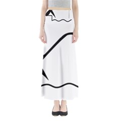 Angling Pictogram Maxi Skirts
