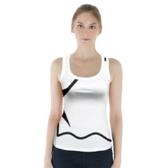 Angling Pictogram Racer Back Sports Top