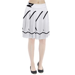 Angling Pictogram Pleated Skirt