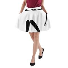 Archery (compound) Pictogram A-Line Pocket Skirt