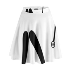 Archery (compound) Pictogram High Waist Skirt