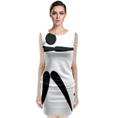 Archery Pictogram Classic Sleeveless Midi Dress