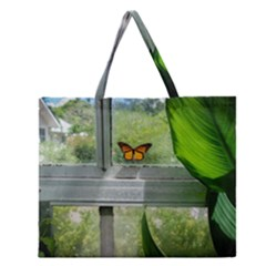 Butterfly #17 Zipper Large Tote Bag