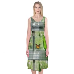 Butterfly #17 Midi Sleeveless Dress