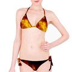 Ablaze Abstract Afire Aflame Blaze Bikini Set
