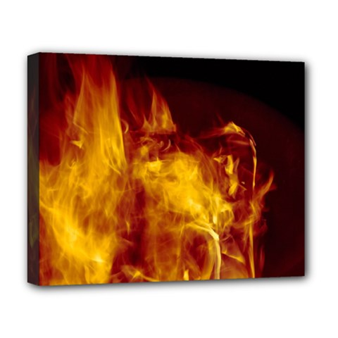 Ablaze Abstract Afire Aflame Blaze Deluxe Canvas 20  X 16