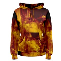 Ablaze Abstract Afire Aflame Blaze Women s Pullover Hoodie