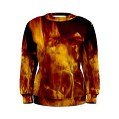 Ablaze Abstract Afire Aflame Blaze Women s Sweatshirt
