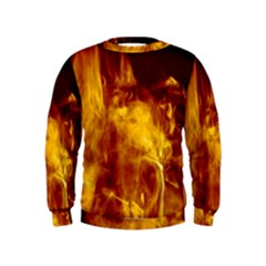 Ablaze Abstract Afire Aflame Blaze Kids  Sweatshirt