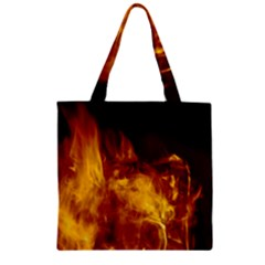 Ablaze Abstract Afire Aflame Blaze Zipper Grocery Tote Bag