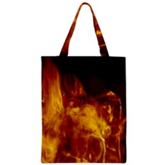 Ablaze Abstract Afire Aflame Blaze Zipper Classic Tote Bag
