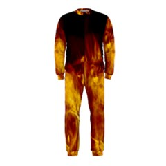 Ablaze Abstract Afire Aflame Blaze OnePiece Jumpsuit (Kids)